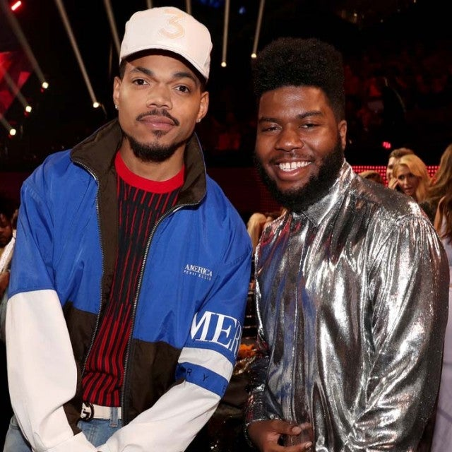 Chance the Rapper and Khalid at the 2018 iHeartRadio Music Awards