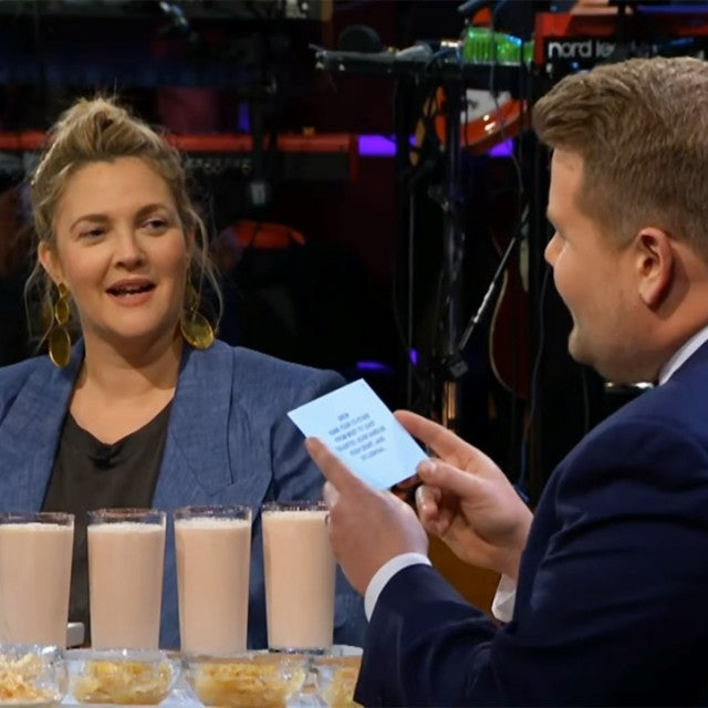 Drew Barrymore and James Corden