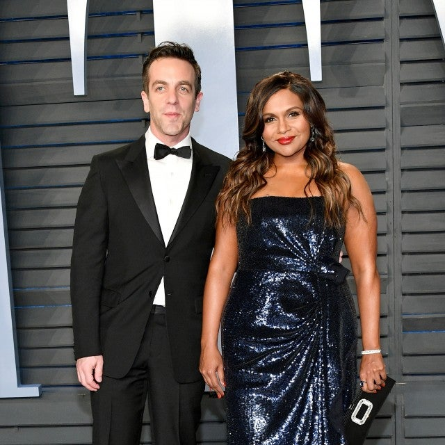 BJ Novak and Mindy Kaling at vf party