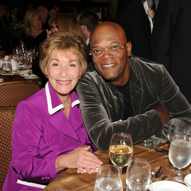 Judge Judy and Samuel L. Jackson in 2012