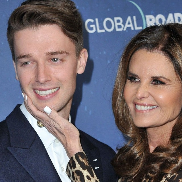 Patrick Schwarzenegger and mom Maria Shriver at the 'Midnight Sun' premiere in Hollywood