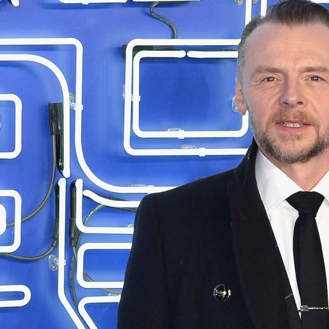 Simon Pegg at 'Ready Player One' premiere in England