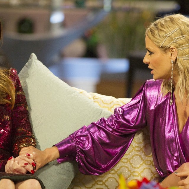 Lisa Vanderpump and Dorit Kemsley at 'The Real Housewives of Beverly Hills' season eight reunion.