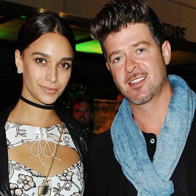 April Love Geary and boyfriend Robin Thicke