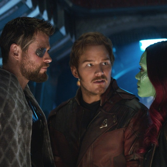 Avengers: Infinity War, Chris Hemsworth, Chris Pratt, Zoe Saldana