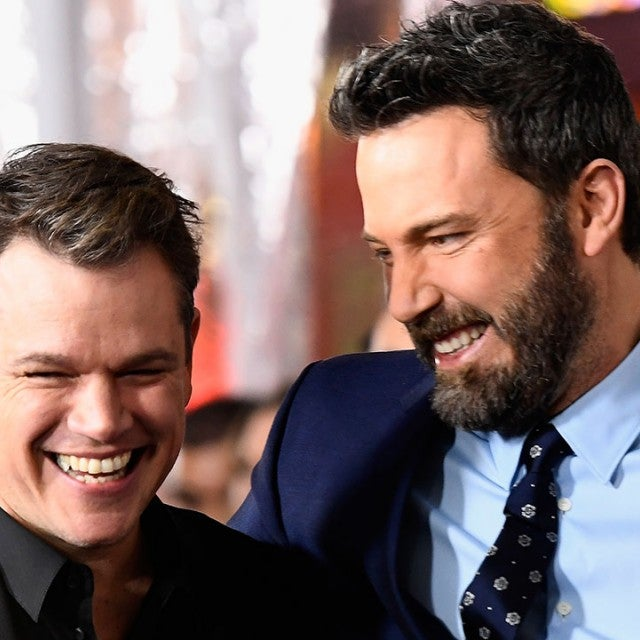 Matt Damon and Ben Affleck at Live by Night premiere