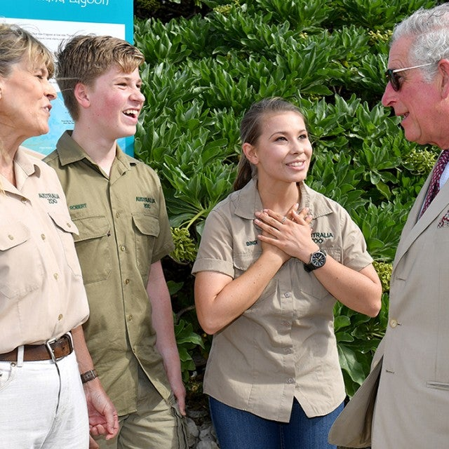 Prince Charles meets the Irwins