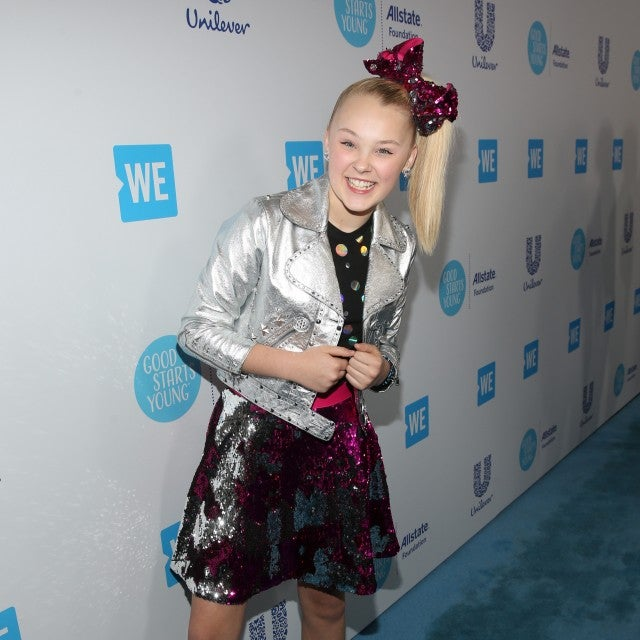 JoJo Siwa attends WE Day California at The Forum on April 19, 2018 in Inglewood, California.