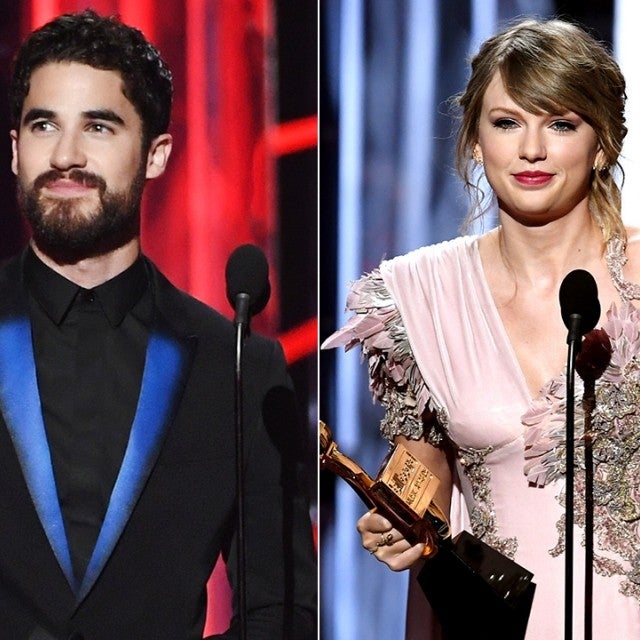 Darren Criss and Taylor Swift