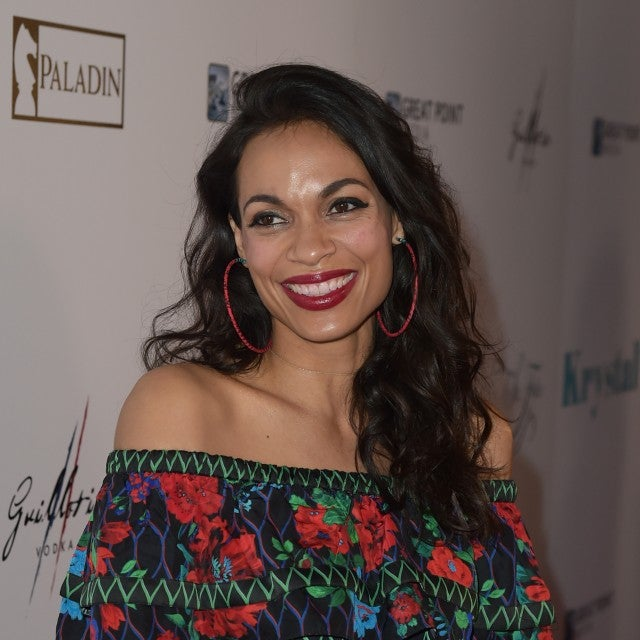Actress Rosario Dawson arrives at the premiere Of Paladin and Great Point Media's 'Krystal' at the Arclight Theatre on April 5, 2018 in Los Angeles, California.