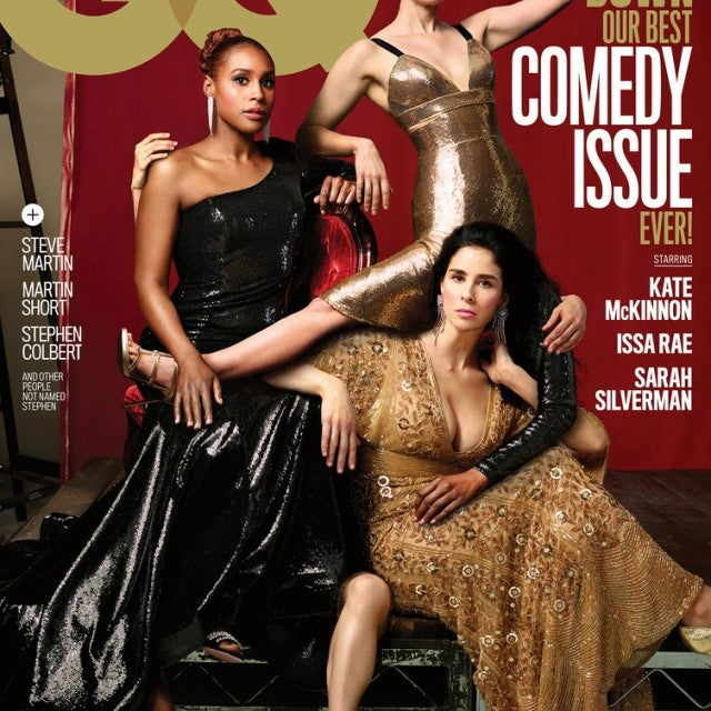 Kate McKinnon, Issa Rae and Sarah Silverman cover GQ magazine's June 2018 comedy issue.