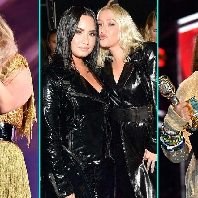 Kelly Clarkson, Demi Lovato, Christina Aguilera, and Janet Jackson at the 2018 BBMAs