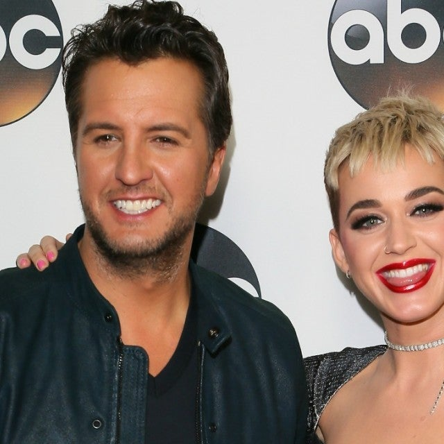 Luke Bryan and Katy Perry attend the Disney ABC Television Group Hosts   TCA Winter Press Tour 2018 on January 8, 2018 in Pasadena, California.