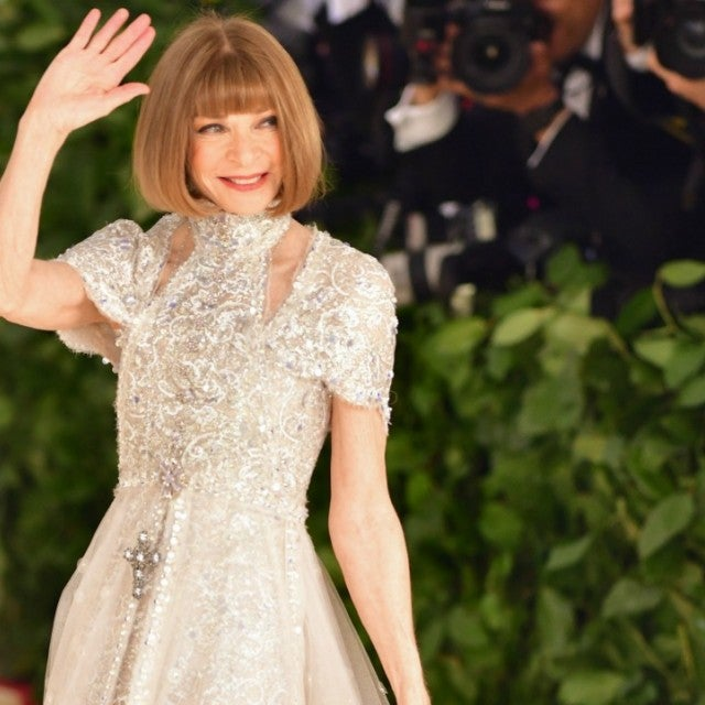 Anna Wintour attends the Heavenly Bodies: Fashion &   The Catholic Imagination Costume Institute Gala at The Metropolitan Museum   of Art on May 7, 2018 in New York City.