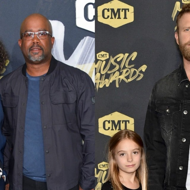 Darius Rucker and Dierks Bentley with their children at the CMT Music Awards.