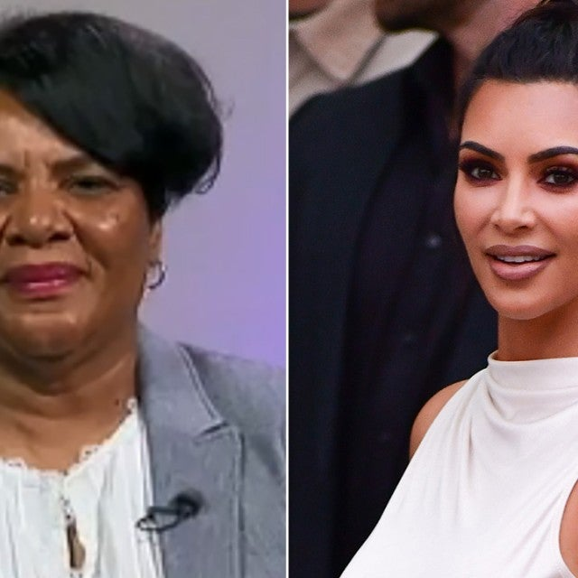 Alice Johnson and Kim Kardashian
