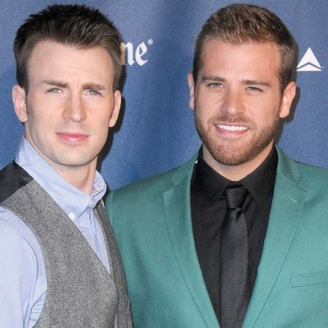 Chris Evans and his brother, actor Scott Evans
