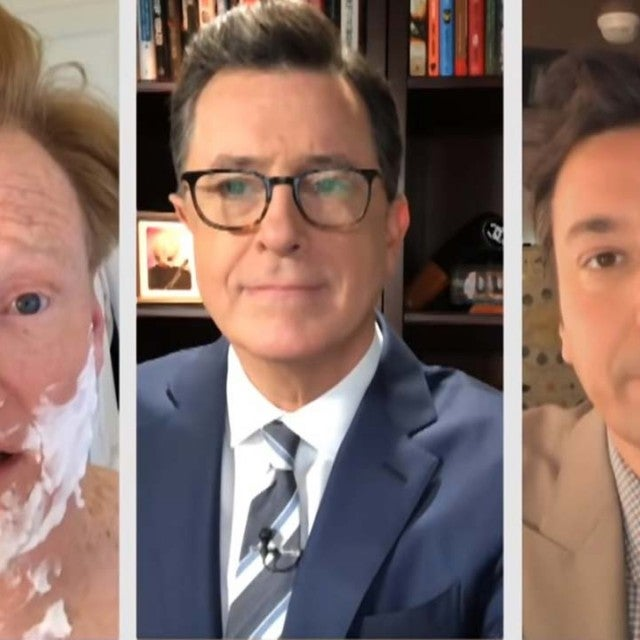 Conan O'Brien, Stephen Colbert and Jimmy Fallon