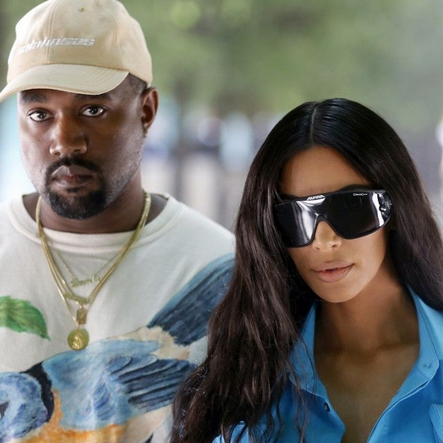 Kim and Kanye at Paris Fashion Week