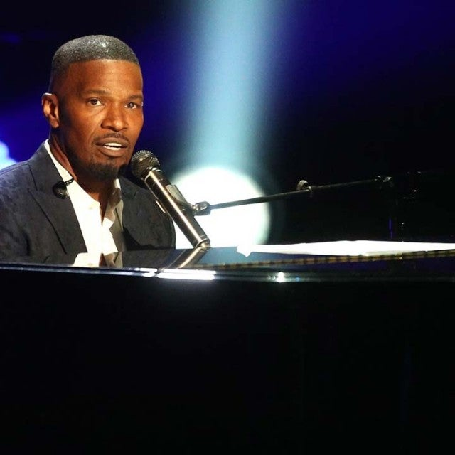 Jamie Foxx performs on stage at the 2018 BET Awards in LA on June 24