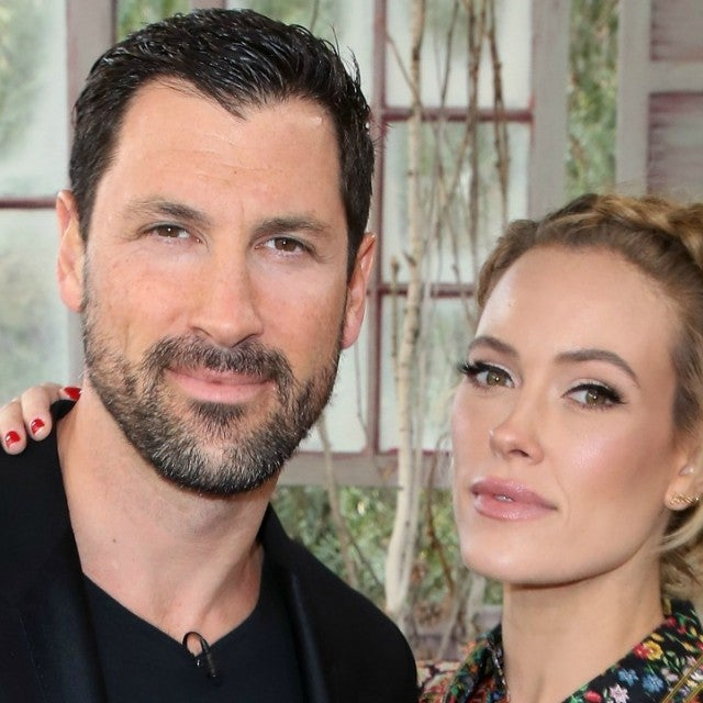 Dancers/TV personalities Maksim Chmerkovskiy and Peta Murgatroyd at Universal Studios Hollywood on February 19, 2018 in Universal City, California.