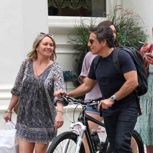 Ben Stiller and Christine Taylor are seen together in public for the first time since their split last year. The former couple had a two hour lunch at a Tribeca restaurant, they both exited and looked to be having a great time together as they were seen laughing before they went separate ways.