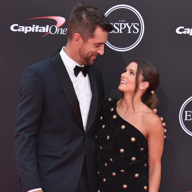 Danica Patrick and Aaron Rodgers at ESPYs
