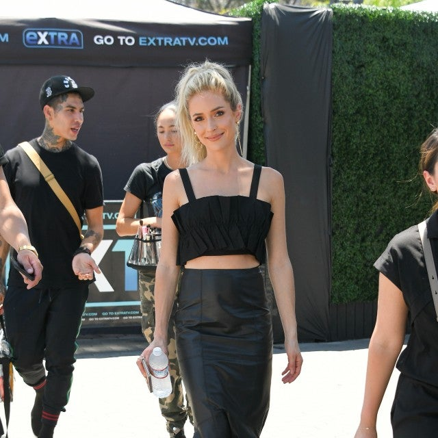 Kristin Cavallari in black crop top