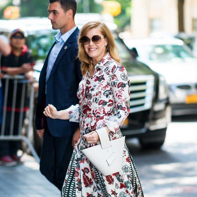 Amy Adams printed shirtdress
