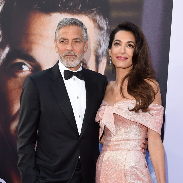 Amal Clooney date night dress
