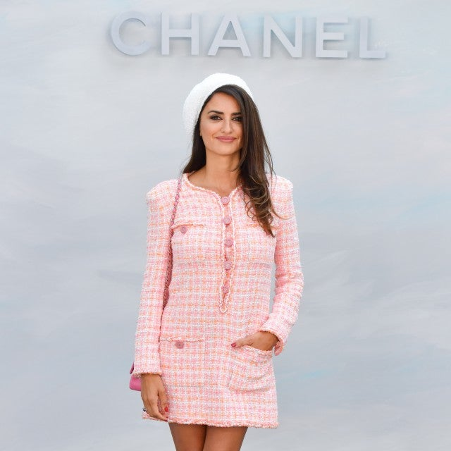 Penelope Cruz in pink Chanel dress