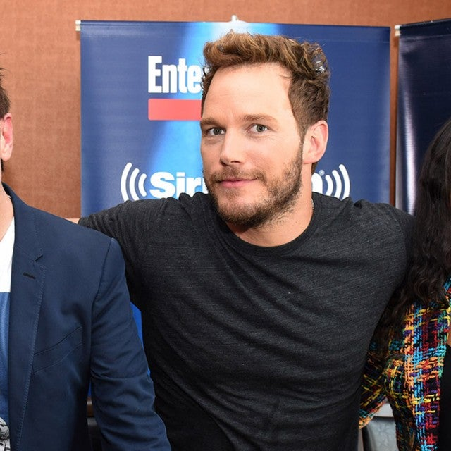 James Gunn, Chris Pratt, Zoe Saldana