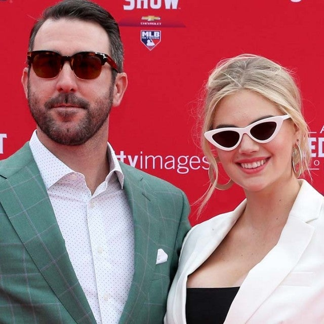 Justin Verlander and Kate Upton at the 89th MLB All-Star Game in Washington, D.C.