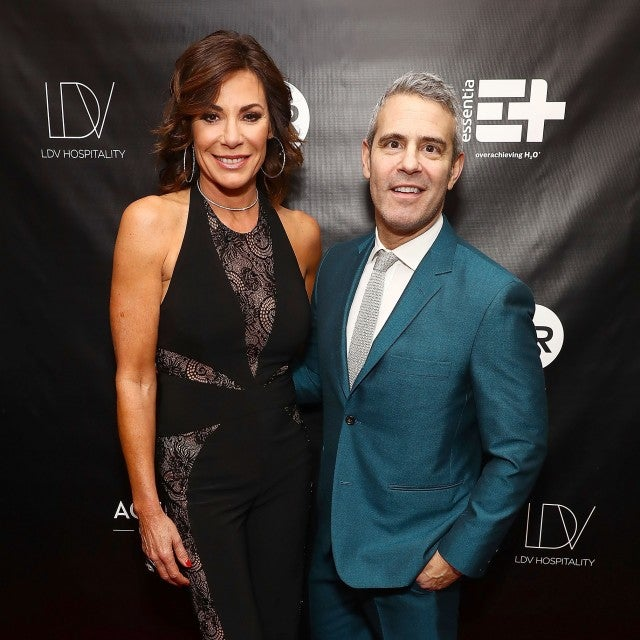 Luann de Lesseps and Andy Cohen attend the The Real Housewives of New York Season 10 premiere celebration at LDV Hospitality's The Seville, produced by Talent Resources on April 4, 2018 in New York City.
