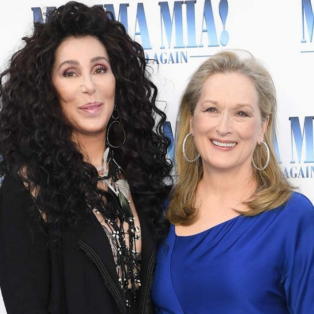 Meryl Streep and Cher at the London premiere of 'Mamma Mia 2' on July 16