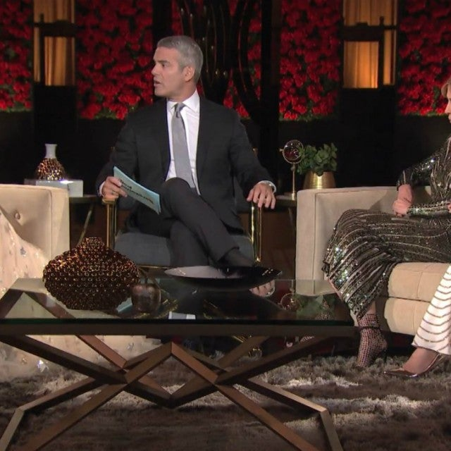 Bethenny Frankel, Andy Cohen and Carole Radziwill on 'The Real Housewives of New York City' cast's season 10 reunion special.