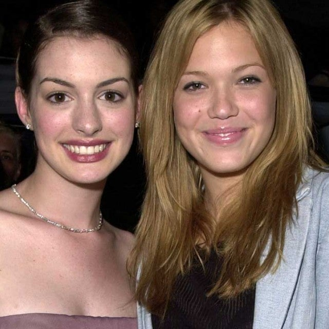 Anne Hathaway and Mandy Moore at the 'Princess Diaries' premiere in 2001