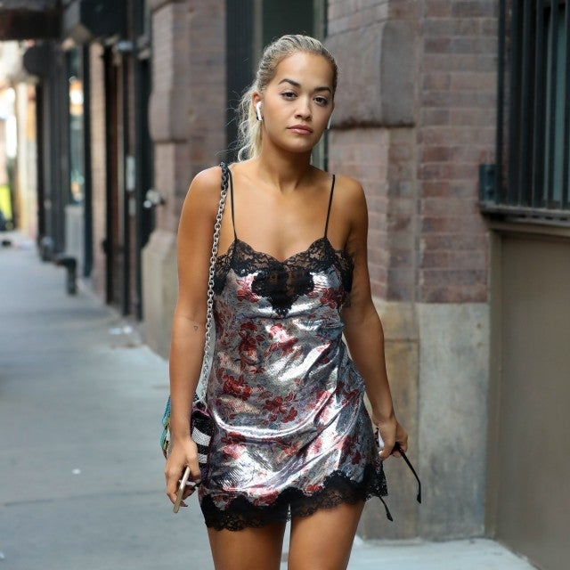 Rita Ora in slipdress after VMAs