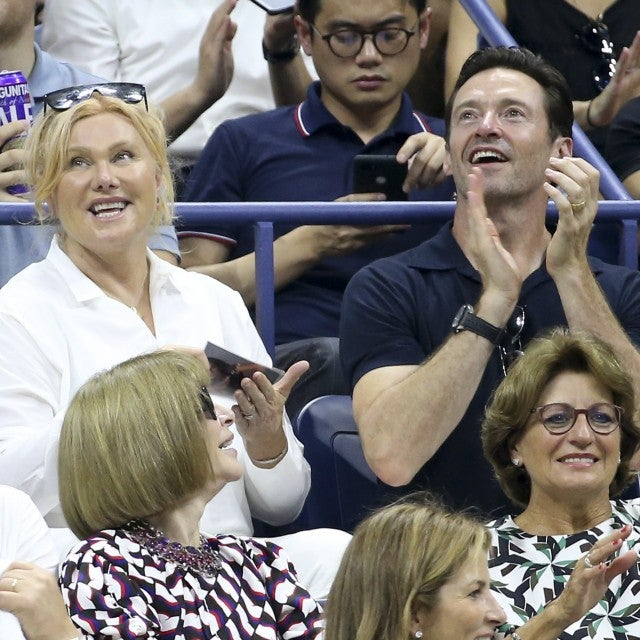 Hugh Jackman and wife at US Open