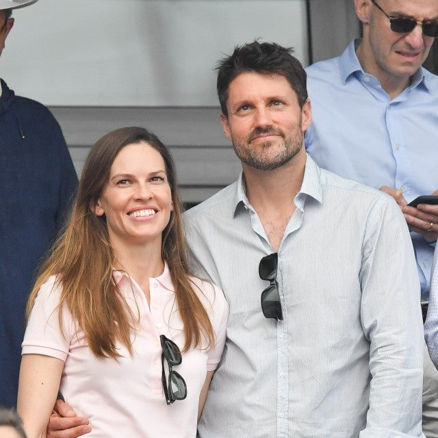 Hilary Swank and boyfriend Philip Schneider at 2018 French Open