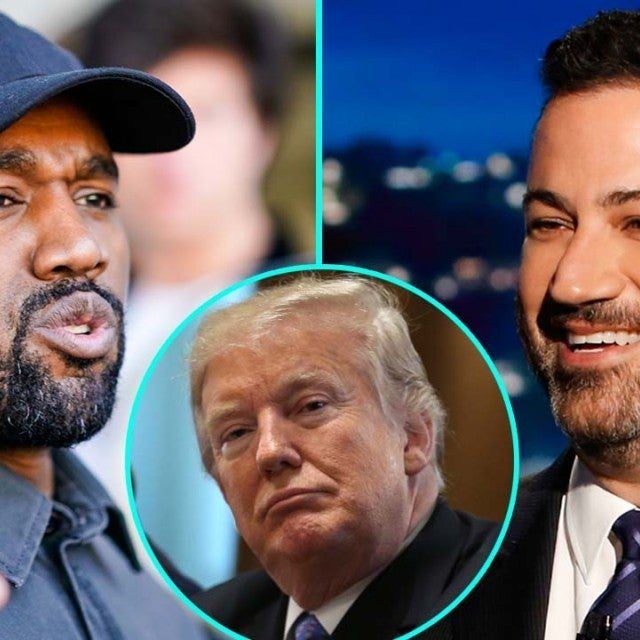 Kanye West, Donald Trump and Jimmy Kimmel