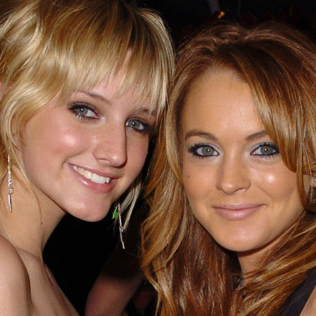 Ashlee Simpson and Lindsay Lohan