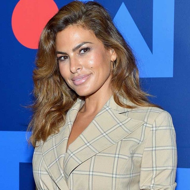 Eva Mendes at the New York & Company Fall 2018 Holiday runway show in LA on Sept. 13