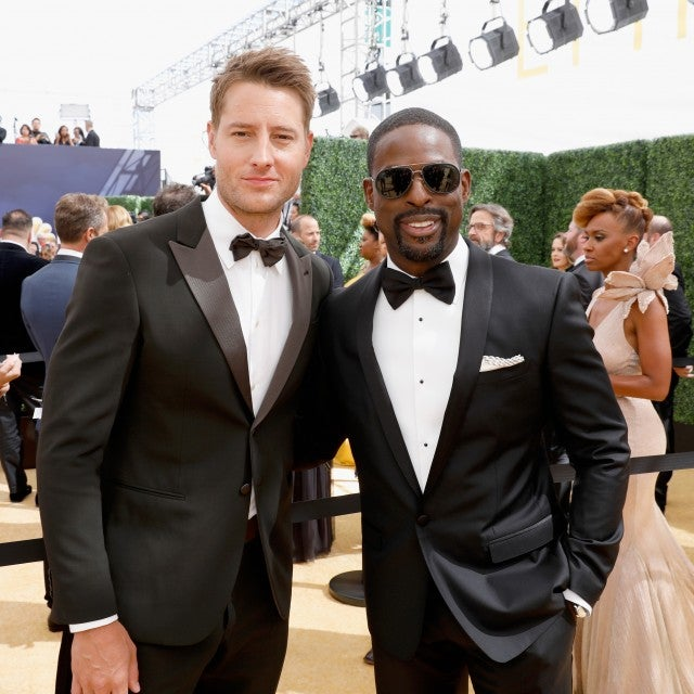 Justin Hartley and Sterling K. Brown Emmys 2018