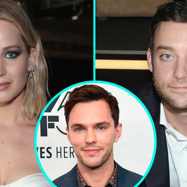 Jennifer Lawrence and boyfriend Cooke Maroney with ex Nicholas Hoult (inset)