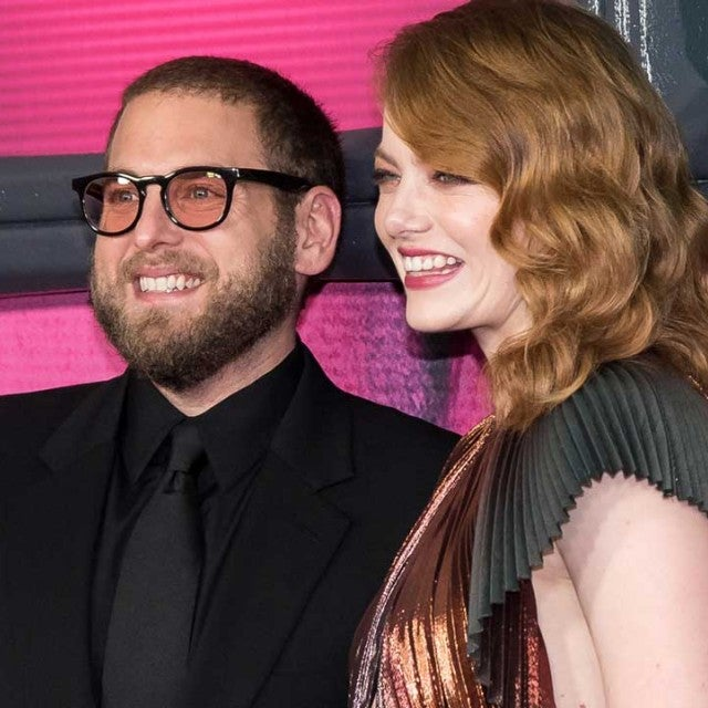 Jonah Hill and Emma Stone at the premiere of 'Maniac' in New York City