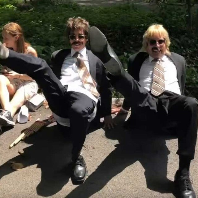 Justin Bieber and Jimmy Fallon in 'Tonight Show' sketch dancing around in Central Park