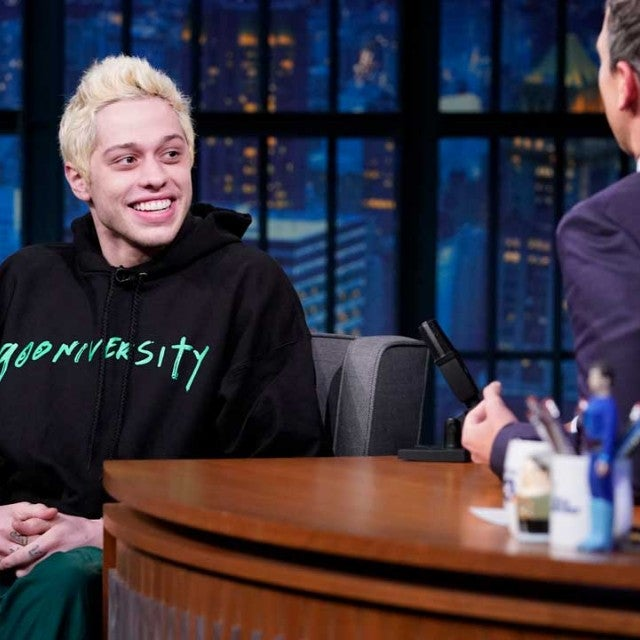 Pete Davidson sits down with Seth Meyers on Late Night on Sept. 27