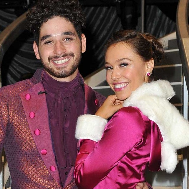 Alexis Ren and Alan Bersten on the set of 'Dancing With the Stars'
