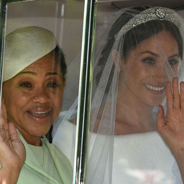 Doria Ragland and Meghan Markle